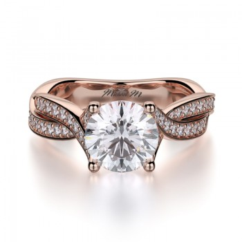 MICHAEL M 18k Rose Gold Engagement Ring R709-1-25-18R