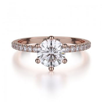 MICHAEL M 18k Rose Gold Engagement Ring R713-1-18R
