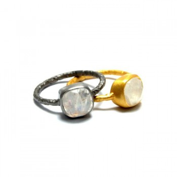 Felicity Cushion Cut Gemstone Stacking Rings
