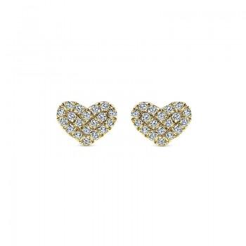 Gaby Earrings 14k Yellow Gold Diamond Stud