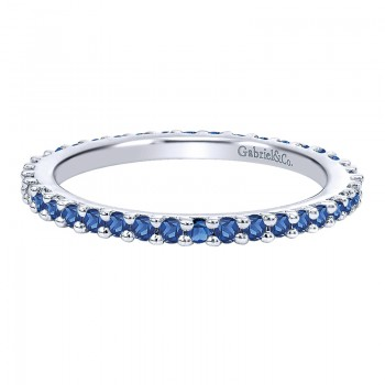 Anniversary Band 14k White Gold Stackable