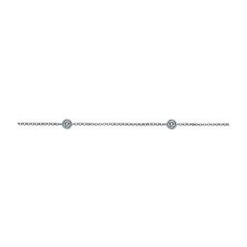 14k White Gold Diamond Chain Ankle Bracelet