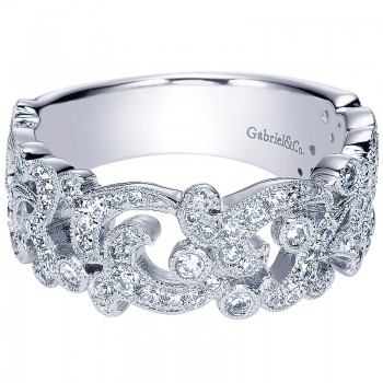 Ladies' Ring 14k White Gold Stackable