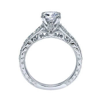 14k White Gold Diamond Straight Engagement Ring ER9194W44JJ