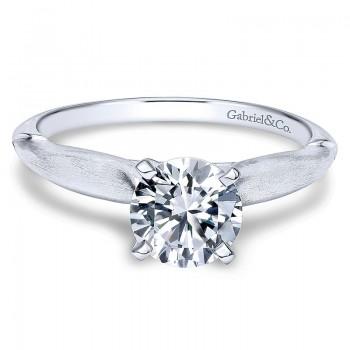 14K White Gold Solitaire 14K White Gold Engagement Ring ER11831R3W4Jjj