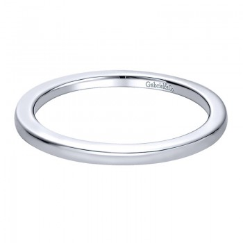Wedding Band 14k White Gold Straight