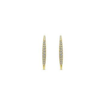14k Yellow Gold Diamond Earcuffs Earrings
