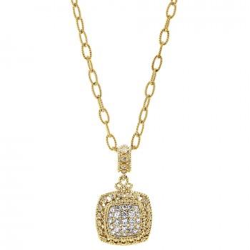 18k Yellow Gold Diamond Fashion Necklace