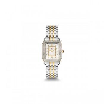 Deco II Mid-size Diamond Two-tone, Diamond Dial Watch