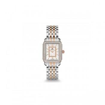 Deco II Mid Diamond Two-Tone Rose Gold, Diamond Dial Watch