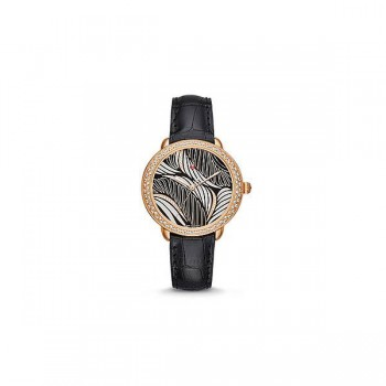 Serein 16 Diamond Rose Gold, Willow Diamond Dial Black Alligator Watch