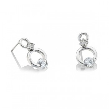 Gelin Abaci 14k White Gold Diamond Earring TE-019