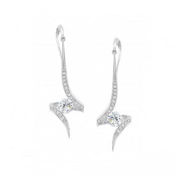 Gelin Abaci 14k White Gold Diamond Earring TE-021