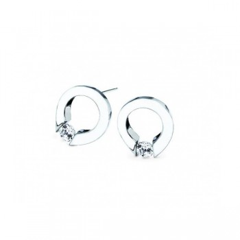 Gelin Abaci 14k White Gold Diamond Earring TE-001