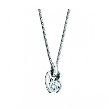 Gelin Abaci 14k White Gold Diamond Pendant TN-047