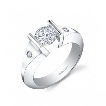 Gelin Abaci 14k White Gold Diamond Engagement Ring TR-244