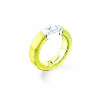 Gelin Abaci 14k White and Yellow Gold Diamond Engagement Ring TR-012