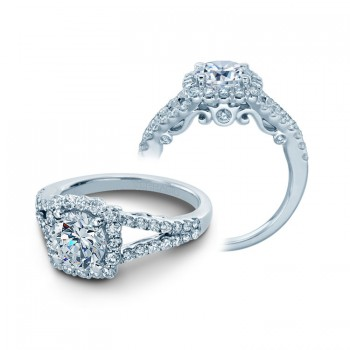 Verragio Split Shank Engagement Ring with Diamond Halo
