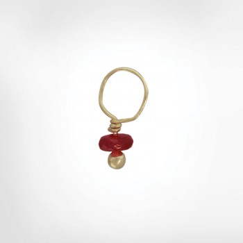 Ruby Faceted Rondelle