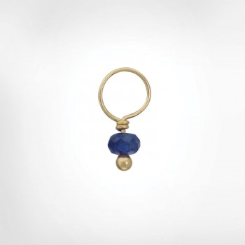 Blue Sapphire Faceted Rondelle