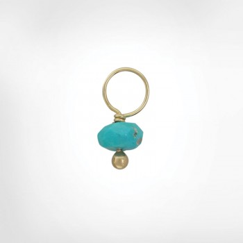 Turquoise Faceted Rondelle