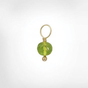 Peridot Faceted Ball