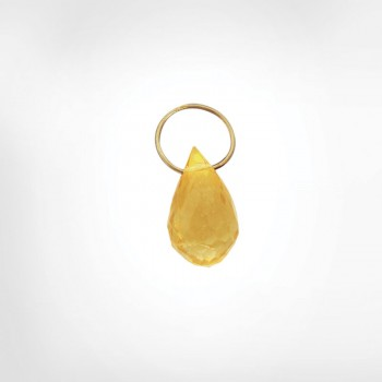 Citrine High Faceted Drop