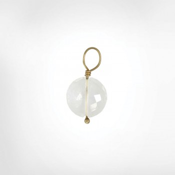 Clear Quartz Faceted Flat