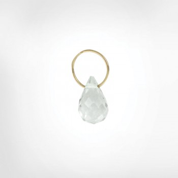 White Topaz High Faceted Drop