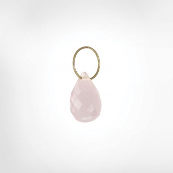 Rose Quartz High Faceted Drop