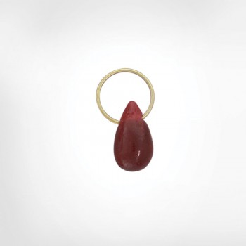 Ruby Unfaceted Drop