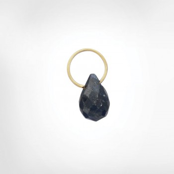 Blue Sapphire High Faceted Drop
