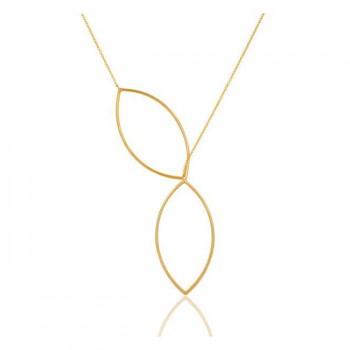 Liv Lariat Necklace In Reclaimed 22K Gold Vermeil