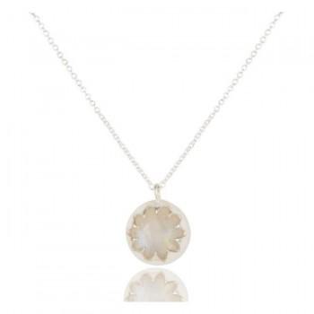 Lotus Pendant In Reclaimed Sterling Silver