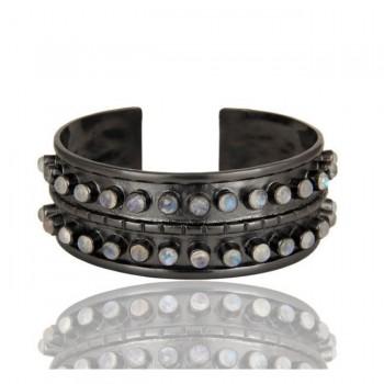 Gramercy Cuff Bracelet In Oxidized Reclaimed Sterling Silver