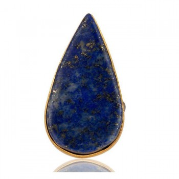 Lapis Statement Ring In Mixed Metal