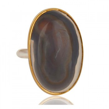 Solar Ice Agate Ring In Mixed Metal