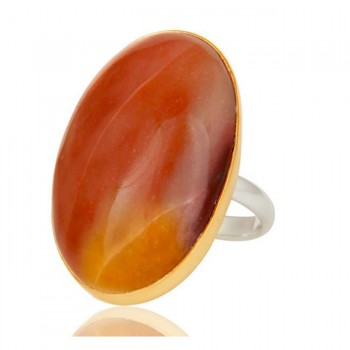 Jasper Ring In Mixed Metal