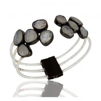Riviera Cuff Bracelet In Reclaimed Sterling Silver