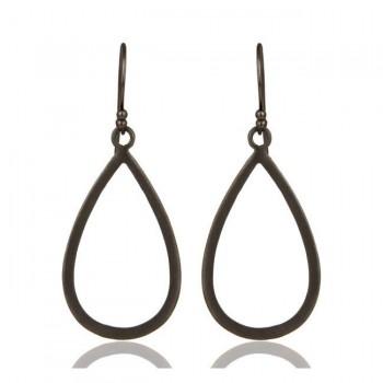 Soho Earrings In Oxidized Reclaimed Sterling Silver