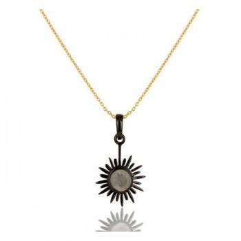 Soleil Necklace In Reclaimed Sterling Silver + 22K Gold Vermeil