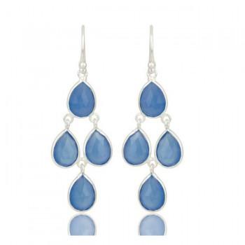 St Tropez Earrings In Reclaimed Sterling Silver