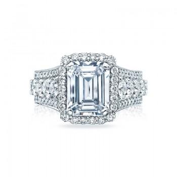 Tacori RoyalT Collection Emerald Cut Engagement Ring HT2613EC10X8