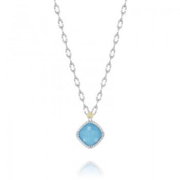 Petite Gem Pendant featuring Neo-Turquoise