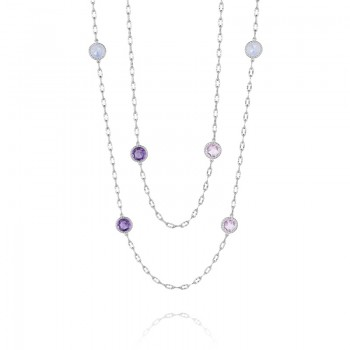 Tacori Simply Floating Gem Necklace featuring Amethyst