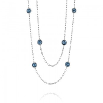 """38"""" Raindrops Necklace featuring London Blue Topaz"""