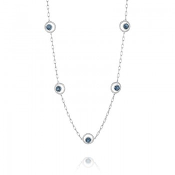 Tacori Island Rains Floating Crescent Bloom Necklace