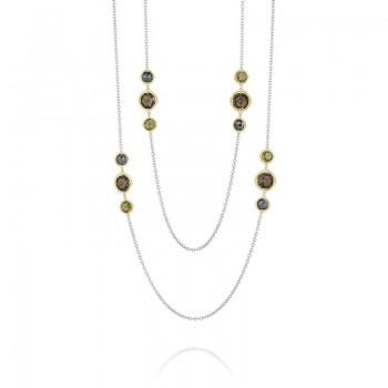 Tacori Midnight Sun Multi-Gem Wrap Necklace