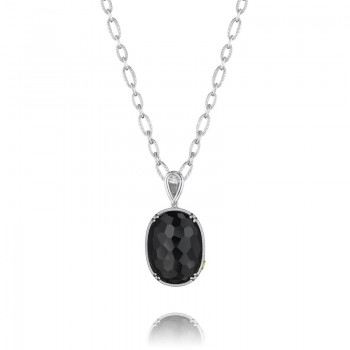 Tacori City Lights After Dark Oval Gem Pendant