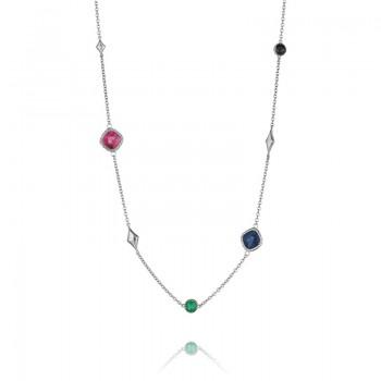 Tacori City Lights Pave Gem Charm Necklace